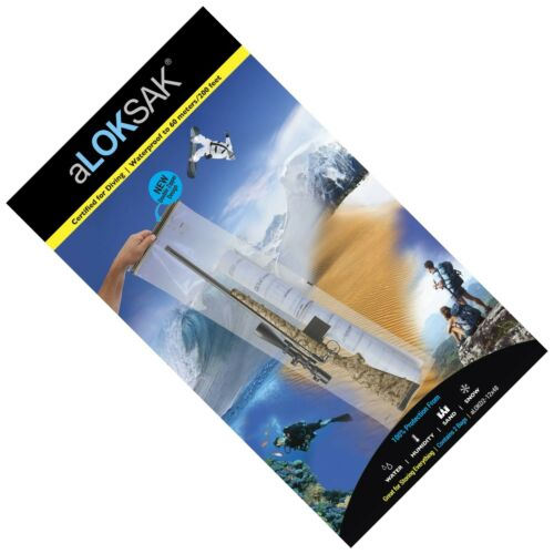 2 Aloksak 12x48 Waterproof Airtight Gun BagPouch LOKSAK aLOKD2-12 x 48