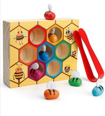 Baby Früherziehung Lernspielzeug Spiel Holzspielzeug Bienenstock Motorik | eBay