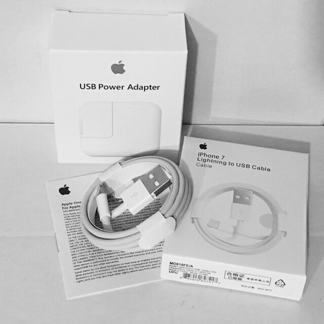 Genuine Original Apple Lightning to USB 12W Charger Cable for iPhone5 6 7 8 & X