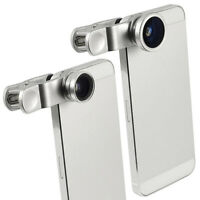 3in1 Fish Eye + Wide Angle Micro Lens Camera Kit for iPhone 5G 4S 4 6 i9300 SLIV