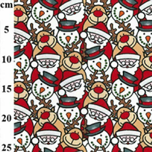 CHRISTMAS FABRIC MATERIAL PENGUINS FATHER XMAS GINGERBREAD SNOW MAN FABRICS NEW