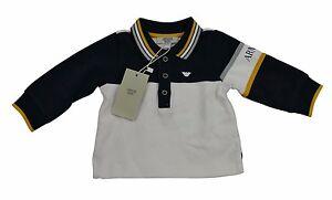 8a8d77b2 Armani Baby Boy Top Full Sleeve Polo T Shirt Rugby 100% Genuine ...