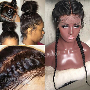 Indian Virgin Human Hair Full Lace Wig Baby Hair Lace Front Wig ... e6a92b010