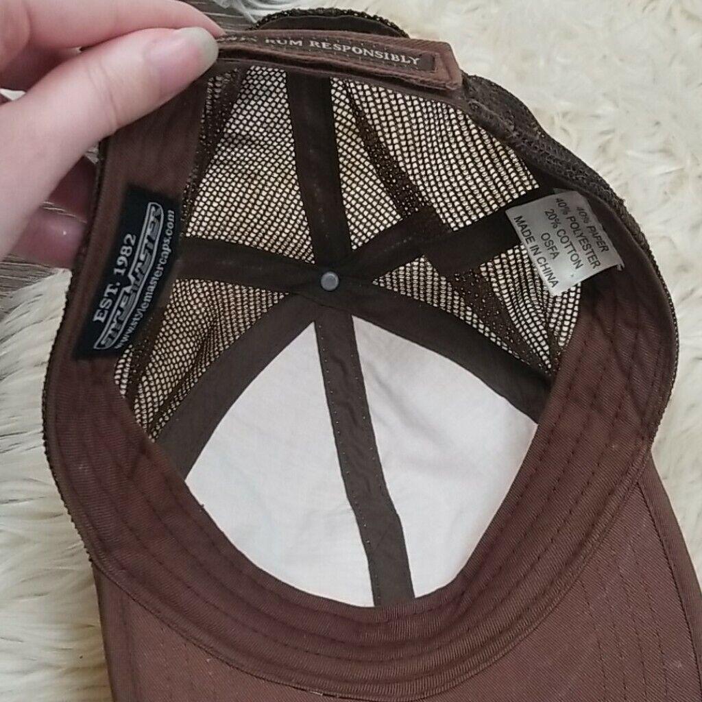 Cruzan Rum Bamboo Wicker Mesh Straw Style Hat Cap - image 6