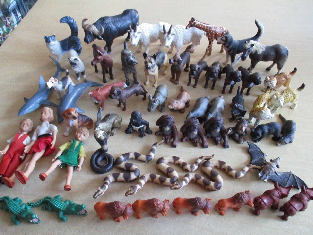 51 SCHLEICH Animali schleichtiere Rarità + 3 persone
