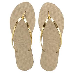 Havaianas H. You Metallic Damen Sandale Zehentrenner Badelatsche 4135102 Gold