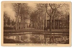 CPA-42-ROANNE-Loire-176-Les-Promenades-le-Bassin-et-le-Kiosque