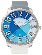 Tendence Gulliver Slim Watch Blue Dial Rubber Strap Quartz Date 47mm TE231001