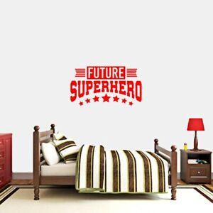 Details about Future Superhero Wall Decal - Kids, Teens, Bedroom, Playroom,  Wall Sticker, Art