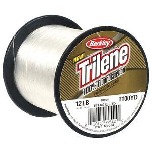 Berkley-Trilene-100-Fluorocarbon-Fishing-Line-BULK-Spools-12lb-or-15lb
