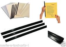 Lot 3 baguettes pour reliures A4 de 1 à 7mm relier vos documents facilement