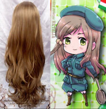 Hot~Axis Powers Hetali APH Hungary Curly Brown Cosplay Wig Free Shipping