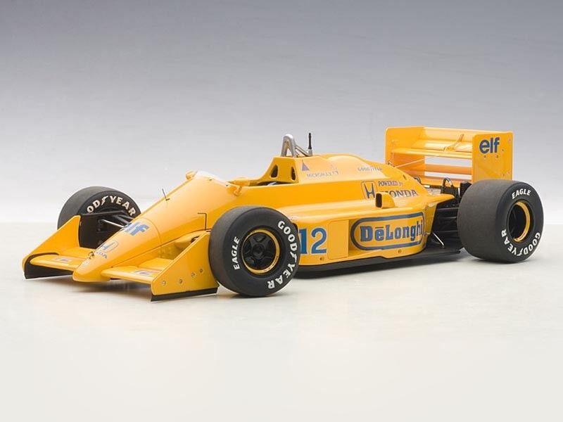 Lotus F1 99T  12 Japan Gp 1987 A.Senna Without Lotus Logo Autoart 1:18 AA88728