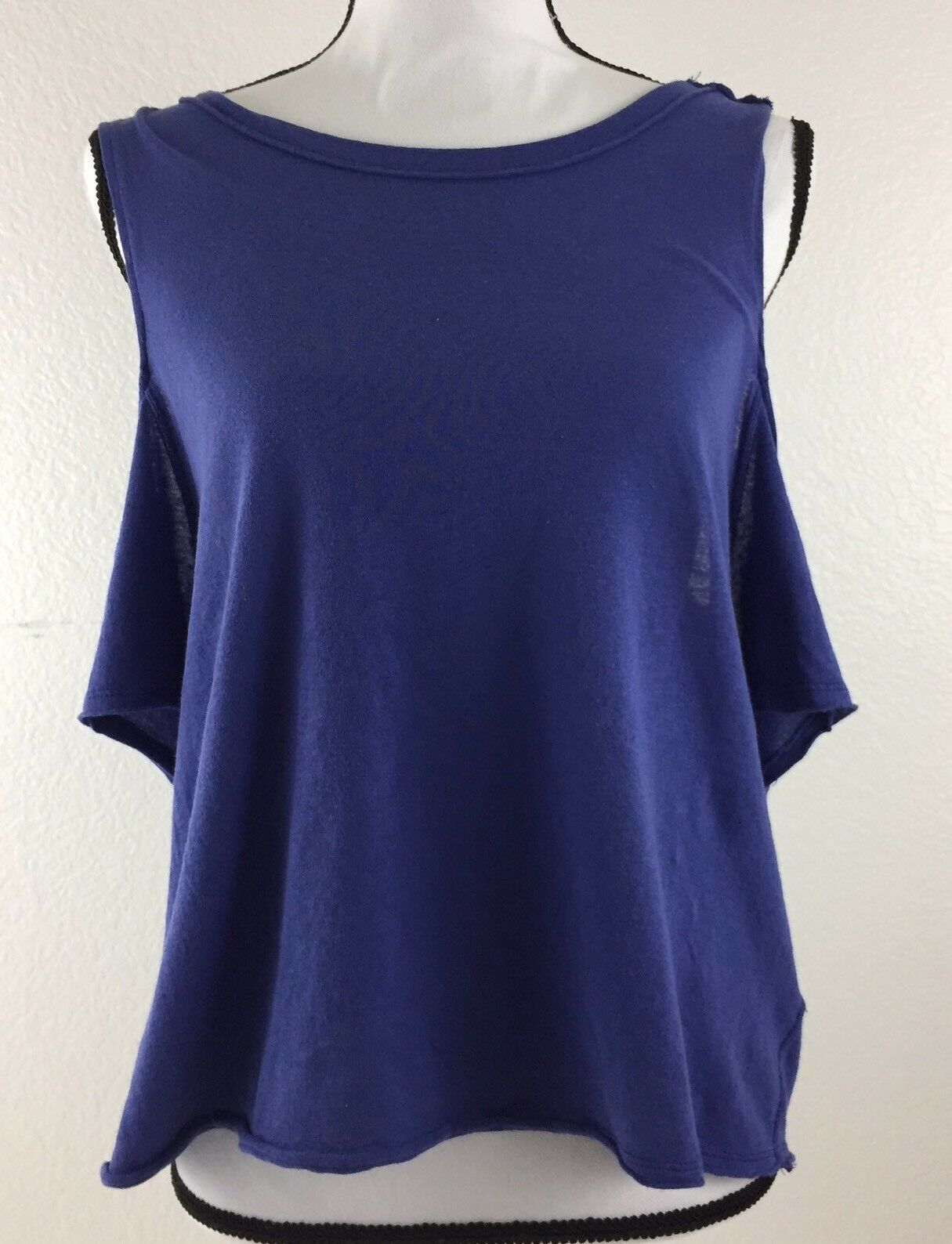 Free People Womens Size Medium Purple Taurus We The Free Cold Shouler Top. M4