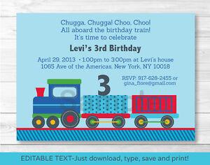 Choo choo train all aboard printable birthday invitation editable image is loading choo choo train all aboard printable birthday invitation filmwisefo