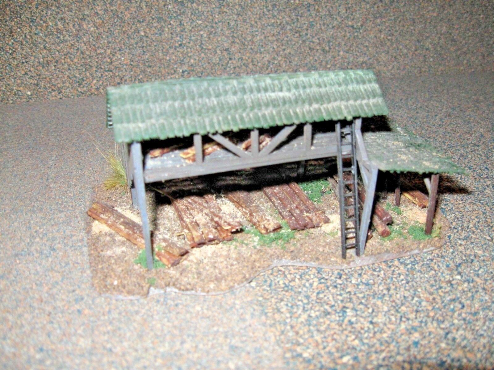 Model Power HO Scale Lumber Shed. Custom Built, Weatherosso & Detailed