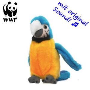 Inquiet Wwf Animal En Peluche Gelbbrust Ara Perroquet (avec Son, 14cm) à Câliner Beau Lustre