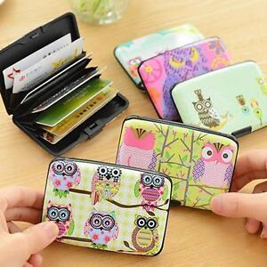 Plastic-Case-Holder-ID-Credit-Wallet-Owl-Card-Bag-Protector