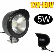 Universal Motorcycle E-Bike Scooter LED Spot White Light Headlight 12V-80V 5W