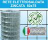 25mt RETE METALLICA ZINCATA ELETTROSALDATA-MAGLIA 5x7,5cm-PER RECINZIONE