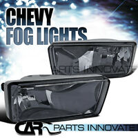 07-14 Chevy Silverado Tahoe Avalanche Smoke Bumper Fog Lights Driving Lamp+bulbs on sale