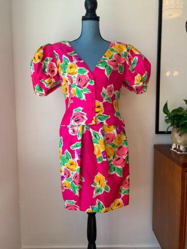 Vintage 1980's Carolyne Roehm 2 Piece Skirt Suit S