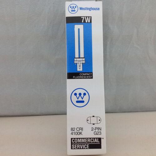 Westinghouse 06126 7W 2 Pin Compact Fluorescent Bulb 82 CRI 4100K G23