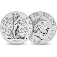 2015 Great Britain UK Britannia £50 For £50 .999 Fine Silver Coin 1st In Series