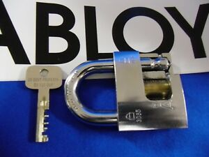 ABLOY-GOVERNMENT-RESTRICTED-3085-CUTAWAY-PADLOCK-HIGH-SECURITY-LOCK-w-1-KEY