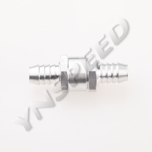 "6mm 1//4/"" Fuel Non Return One Way Check Valve Petrol Diesel Aluminum"