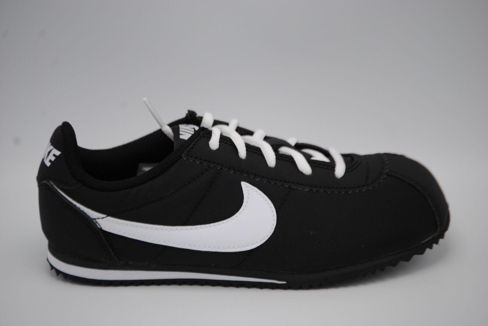 a8293a5e1167 Nike Cortez Nylon Preschool Boys Shoes Black white Size 1 for sale ...