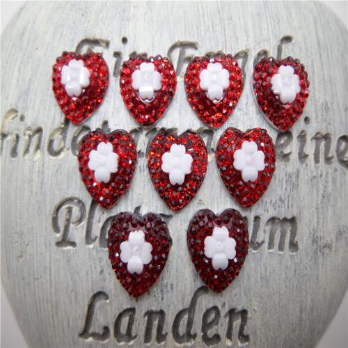 DIY 100PCS 12mm Resin Heart flatback Scrapbooking for phone//wedding// Pick Color