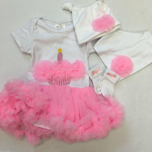 BABIES OR REBORN DOLL BABY OUTFIT CLOTHING NEWBORN BIRTHDAY TUTU HAT BIB SOCKS