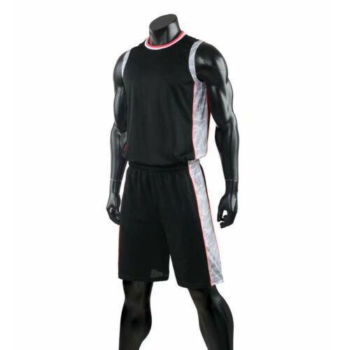 Kids Mens Blank Running Basketball Game Jersey Kit Uniforms Athletic Sport Suits