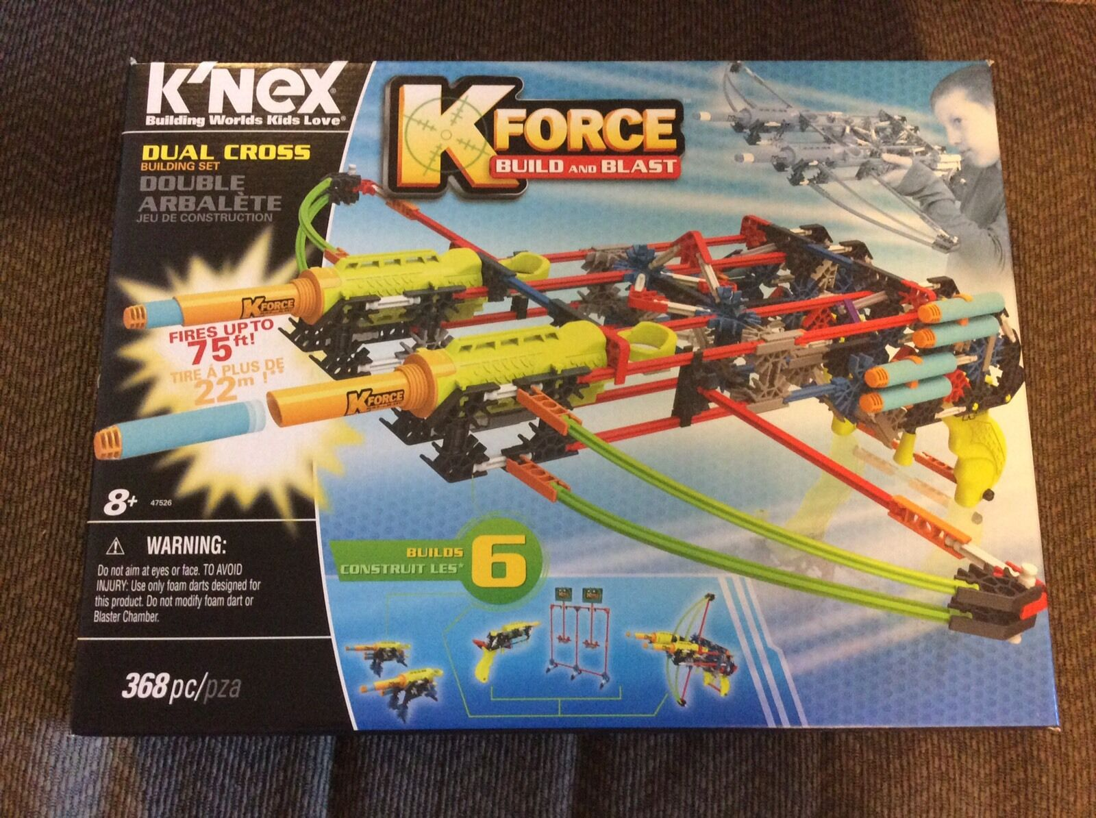K'NEX K-FORCE Build Build Build & Blast KNEX Dual Cross-bow Building Set 368 Pieces ages 8+ 0110d9