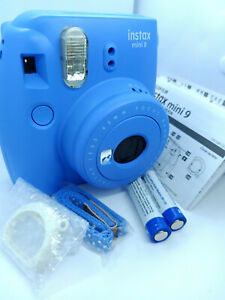 Fujifilm-Instax-MINI-9-Film-Instant-Camera-Cobalt-Blue-with-10-shots-Film-Pack