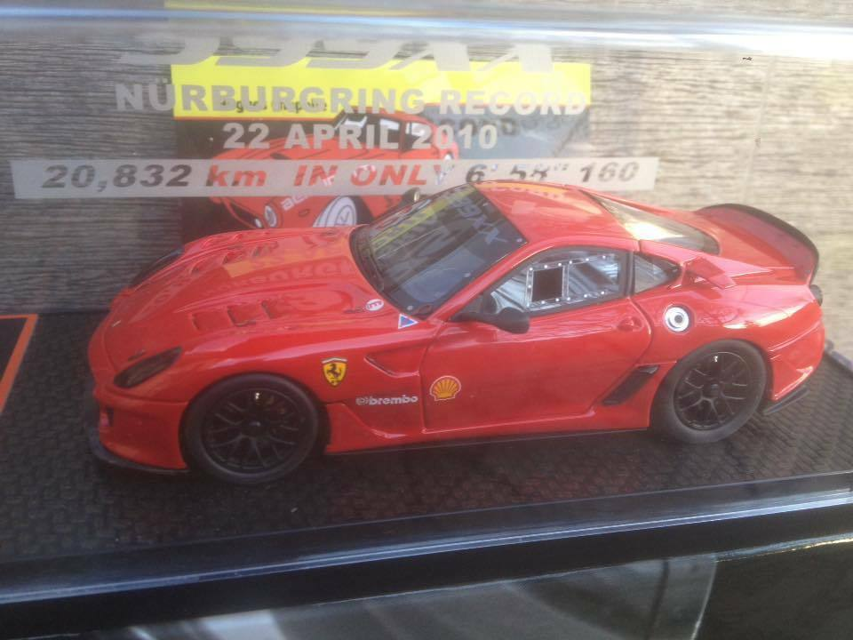 BBR BBRC43 FERRARI 599XX NURBURGRING RECORD 2010 rosso LIMITED 200 PIECES 1 43
