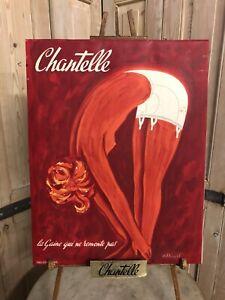 Bernard-VILLEMOT-Affiche-Publicite-Ancienne-Chantelle-Poster-Sous-Vetements-Pub