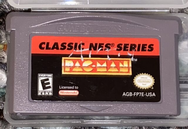 Pac Man Classic NES Series GBA Authentic Tested