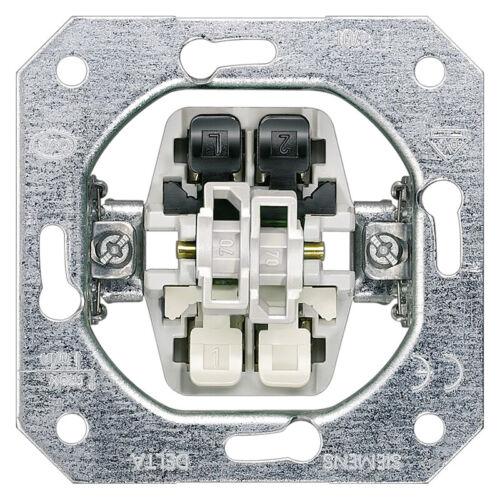 Siemens Delta Rahmen Schalter Steckdose Taster titanweiss