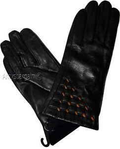 Lot of 2 Men/'s leather gloves XL Brown Unbranded hand warmer winter gloves BN