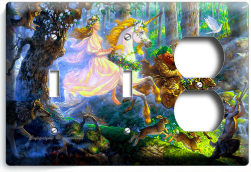 WHIMSICAL FOREST FAIRY UNICORN TROLL LIGHT SWITCH OUTLET WALL PLATES ROOM DECOR