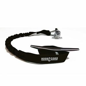 Hook-and-Cord-Bungee-Boating-Dock-Ties-Black-30-034-with-1-loop-and-1-Hook