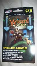 new Wizard 101 SPIRAL CUP GAUNTLET BUNDLE Game Card Tanglewood Vine Mount Crowns