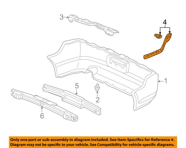08b61ecce47d7 Acura Honda OEM 02-04 RSX Rear Bumper-side Bracket Left 71598S6M003