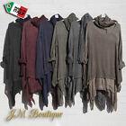 Italian Lagenlook Long Sleeve Top Blouse Tunic Scarf Plus Size 16 18 20 22 24 26