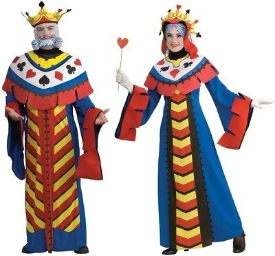 Couples Costumes Playing Card King and Queen Adult Ace Spade Heart Club Cosplay