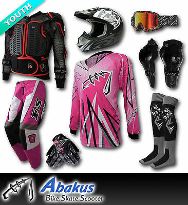 YOUTH MOTOCROSS HELMET+JERSEY+ARMOUR+MORE!-Junior/Kids/Dirt Bike Gear/MX
