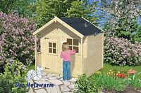 Kinderspielhaus Schneewittchen Blockhaus 149x149cm Holzhaus 16mm Terrasse Holz