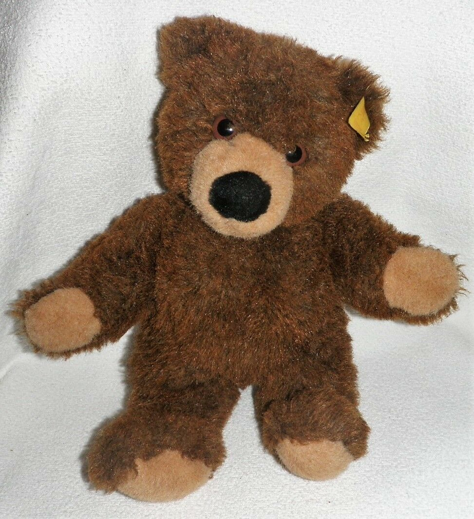 Alter Steiff Teddy Teddybär  Molly  021701  dunkelbraun 32 cm TOP Zustand